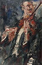 GEN PAUL 1895 - 1975 LE VIOLONISTE AIRS BOHEMIENS DE SARASATE - 1926-1927 Huile sur toile