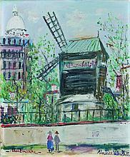 Maurice UTRILLO 1883 - 1955 LE MOULIN DE LA GALETTE Huile sur toile