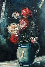 Maurice de VLAMINCK 1876 - 1958 VASE DE FLEURS Huile sur toile