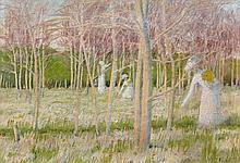 Maurice DENIS (1870 - 1943) LE BOIS AUX JONQUILLES - 1889 Huile sur toile