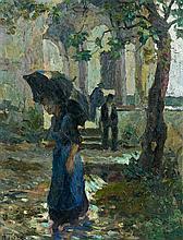 Mario TOZZI (1895 - 1979) DAVANTI A SAN FABIANO - 1914 Huile sur toile