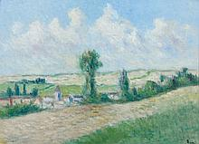 Maximilien LUCE (1858 - 1941) ENVIRONS DE ROLLEBOISE - 1939 Huile sur toile