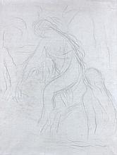 Pierre-Auguste RENOIR (1841 - 1919) ETUDES DE NU Crayon sur papier