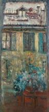 Mario CAVAGLIERI (1887 - 1969) VUE SUR UNE MAISON - 1912 Huile sur toile