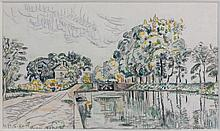 Paul SIGNAC (1863 - 1935) MOISSAC - 1926 Aquarelle et crayon sur papier