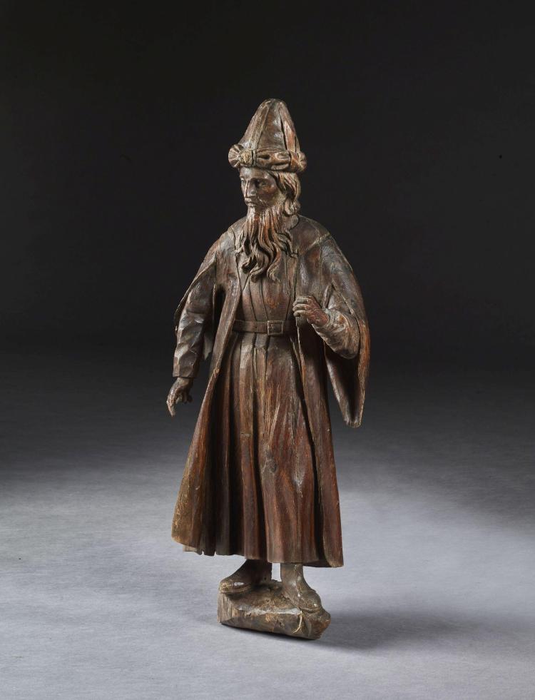 r gion alpine fin du xvie si cle homme au turban statue en r. Black Bedroom Furniture Sets. Home Design Ideas