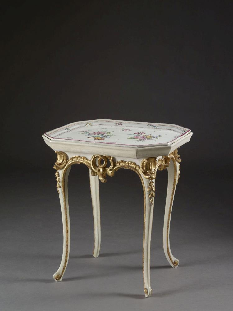 Table en cabaret travail allemand d 39 poque rococo for A table en allemand