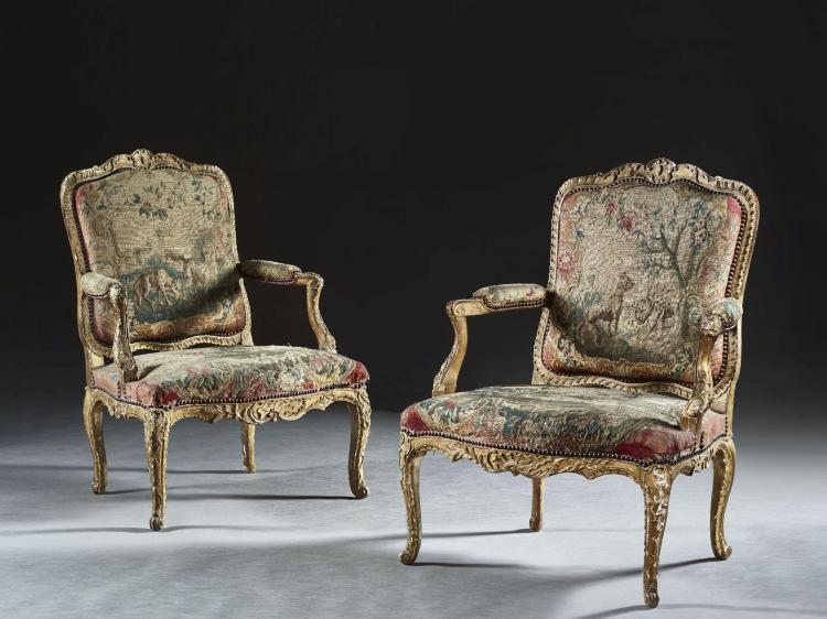 paire de fauteuils 192 la reine d 201 poque louis xv vers 1730