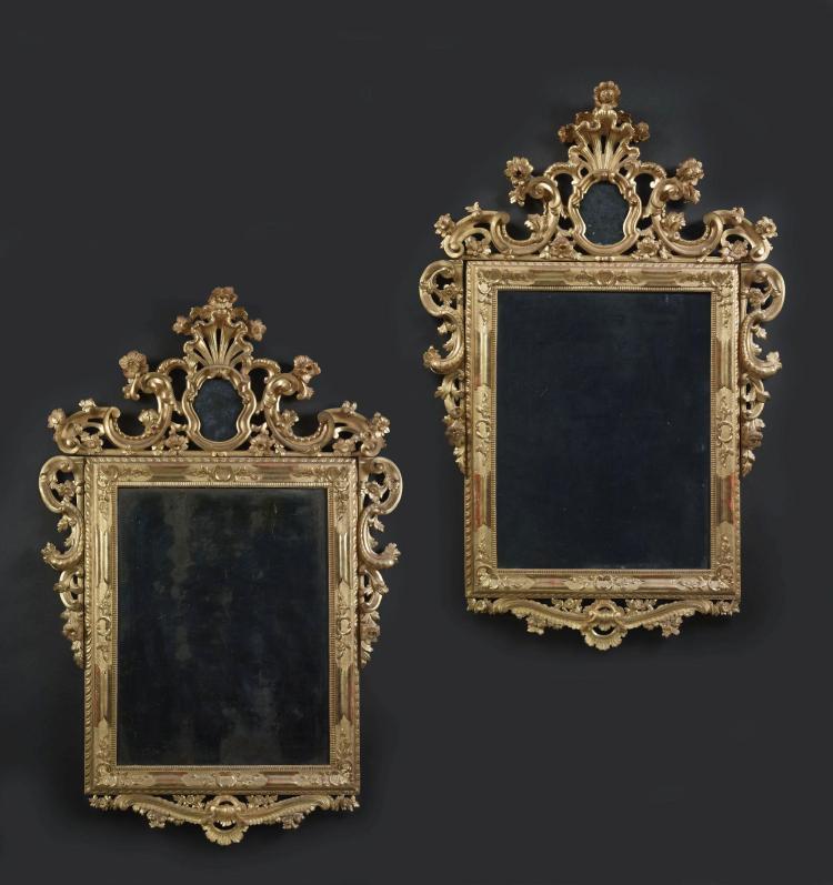 Paire de miroirs travail venitien du milieu du xviiie si cl for Miroir venitien