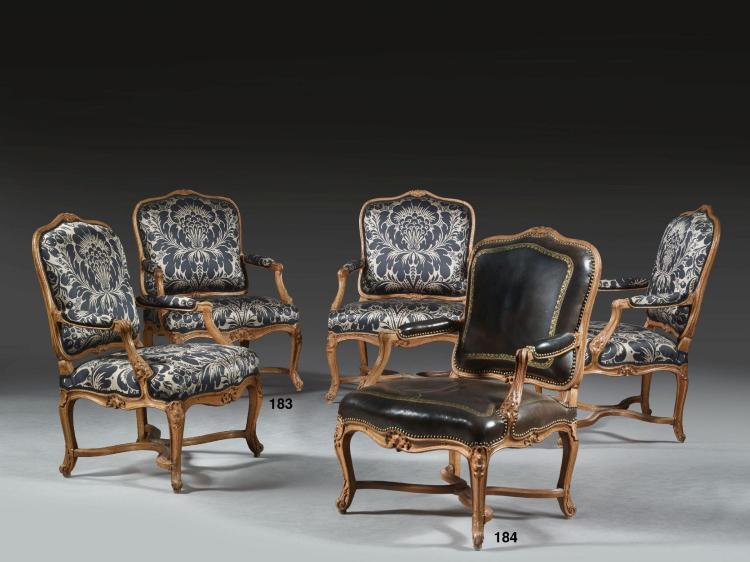 fauteuil 192 la reine d 201 poque louis xv en suite avec le lot p