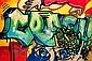 CRASH (John Crash Matos dit) (né en 1961 -) THE FIRST PUZZLE, 1984 Acrylique et peinture aérosol sur toile,  Crash, Click for value