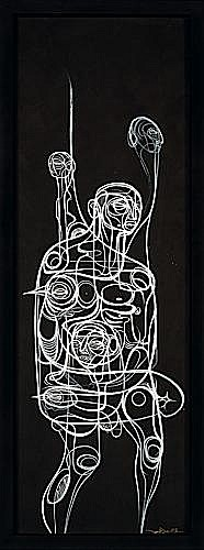 DOZE GREEN (Jeffrey Green dit) (né en 1964 -) NEFILIM, 2008 Gouache sur carton fin