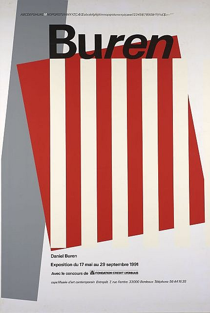 Daniel buren n en 1938 musee d 39 art contemporain de bordeaux for Poster contemporain