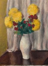 Charles KVAPIL 1884 -1957 Bouquet de fleurs Huile sur toile
