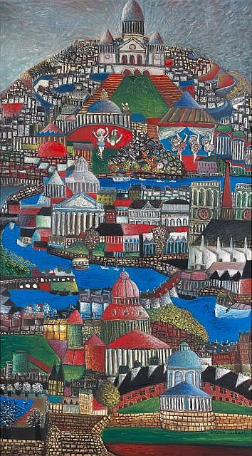 Aristide CAILLAUD (1902-1990) VUE DE PARIS AVEC LA SEINE Huile sur toile