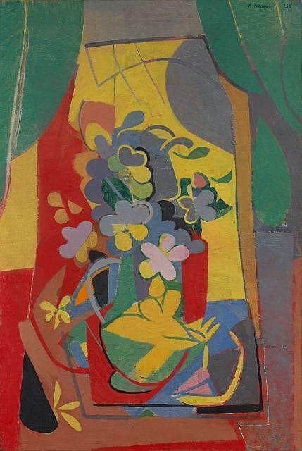 André BEAUDIN (Mennecy, 1895 - 1979) LE BOUQUET, 1935 Huile sur toile
