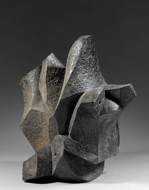 André BEAUDIN (Mennecy, 1895 - 1979) OISEAUX MARINS, 1963 Bronze à patine brun vert