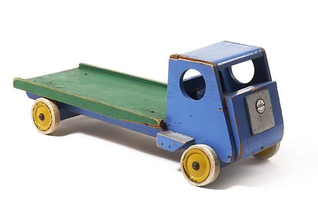 Ko VERZUU pour ADO  Camion jouet - circa 1930 Bois laqué polychrome