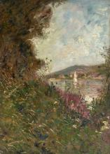 Adolphe Albert CLARY-BAROUX (1865-1933) Bord de rivière en été Huile sur toile