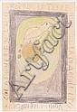 Frederic Bruly BOUABRE (Né en 1923 en Côte d'Ivoire) LA FAIBLESSE DE L'AIGLE ROIS SUR LA TERRE N'EST QUE LA DIARRHEE ET LE VOMISSEME, Frédéric Bruly Bouabré, Click for value