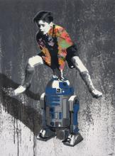KURAR Français - Né en 1983 MY BEST FRIEND - 2014 Pochoir, peinture aérosol et acrylique sur toile