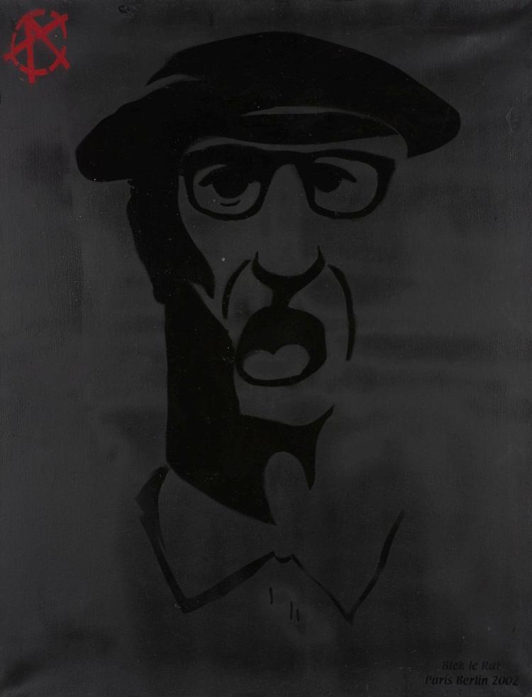 Blek le rat fran ais n en 1951 old irish man 2002 pocho for Pochoir peinture