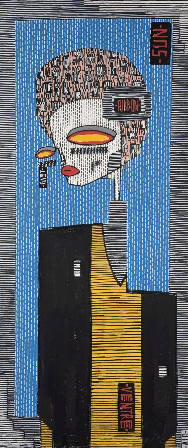 ALO Italien - Né en 1981 NIRVANA - 2015 Acrylique et marqueur sur toile