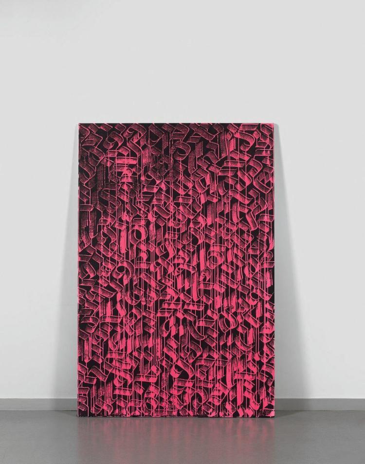 Shoof tunisien n en 1979 sans titre 2015 acrylique et p for Peinture acrylique sur toile