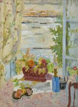 Jean-Jules-Louis CAVAILLES 1901 - 1977 Pétroliers à la Vera Huile sur papier marouflé sur toile