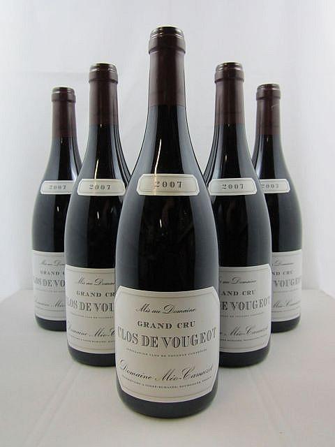 6 bouteilles CLOS VOUGEOT 2007 Grand Cru