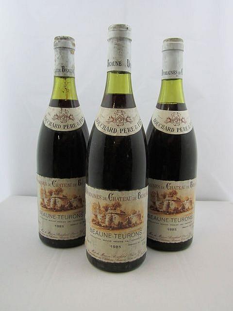 12 bouteilles BEAUNE 1983 1er cru Teurons