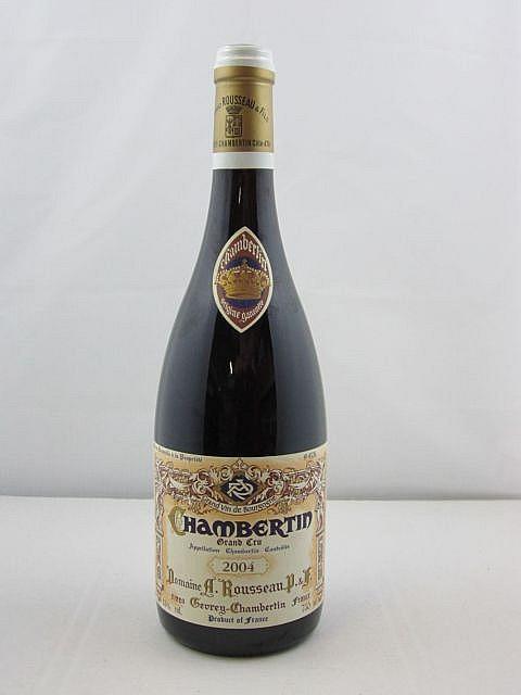 1 bouteille  CHAMBERTIN 2004 Grand Cru. Armand Rousseau