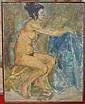 Attribué à Robert Charazac 1905 - 1982 Nu féminin ; Nu masculin et Un couple de nus Trois huiles sur toiles  Environ 80 x 60...