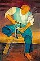 Louis TOFFOLI (né en 1907) DANIEL, 1984 Huile sur toile, Louis Toffoli, Click for value