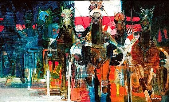 Paul AMBILLE (né en 1930) A VINCENNES, 1996 Huile sur toile