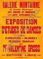 Valentine HUGO (1890 - 1968) AFFICHE DE L'EXPOSITION