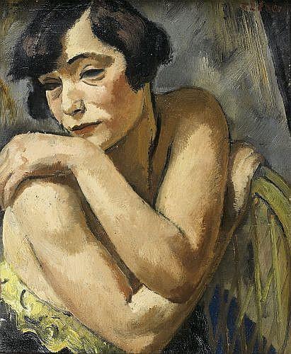 François EBERL (1887-1962) PORTRAIT DE FEMME, circa 1930 Huile sur toile
