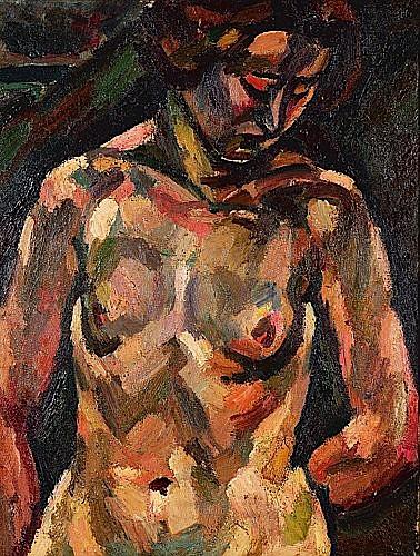 Maurice LOUTREUIL (1885-1925) ETUDE DE FEMME BRAS DANS LE DOS, circa 1920-1922 Huile sur toile