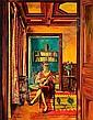 Simon MONDZAIN (1890-1979) INTERIEUR (PORTRAIT DE MADAME MONDZAIN), 1929 Huile sur toile, Simon Mondzain, Click for value
