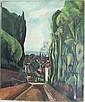 Simon MONDZAIN (1890-1979) PAYSAGE A CLAMART, circa 1913 Huile sur toile, Simon Mondzain, Click for value