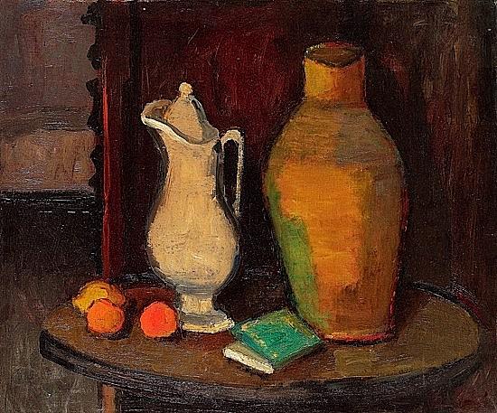 Ossip LUBITCH (1896-1990) NATURE MORTE, circa 1930 Huile sur toile