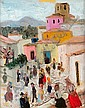 Francis SMITH (1881-1961) PLACE DE VILLAGE AU PORTUGAL Huile sur toile, Francisco Smith, Click for value