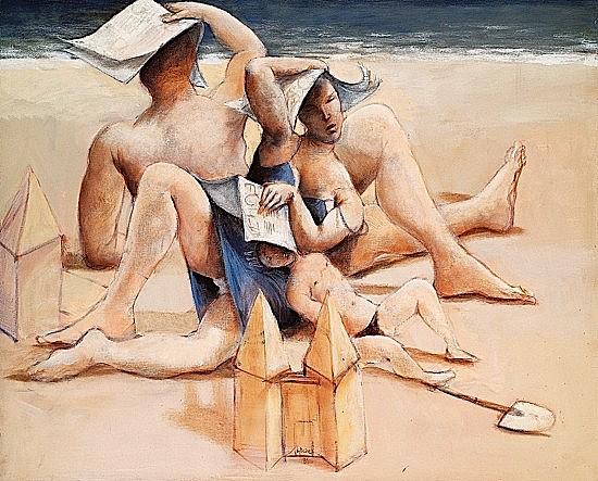 Jean-Pierre CEYTAIRE (né en 1946) ENFANT CHATELAIN, 1989 Huile sur toile et cadre peint