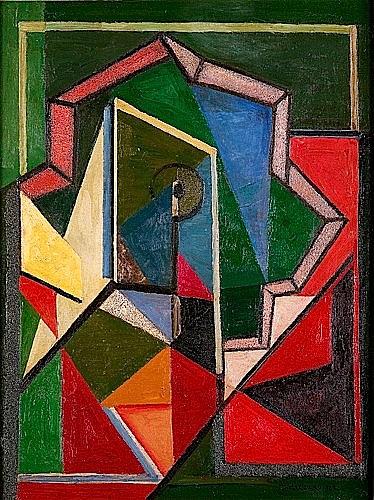Mikhail Fedorovitch ANDREENKO (1894-1982) COMPOSITION ABSTRAITE, 1929 Huile et sable sur toile