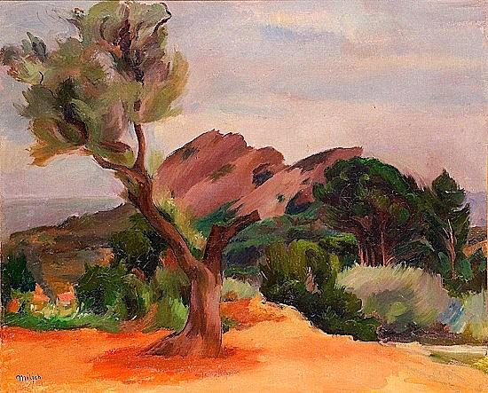 Adolphe MILICH (1884 - 1964) LE BER A LA CIOTAT, 1927 Huile sur toile