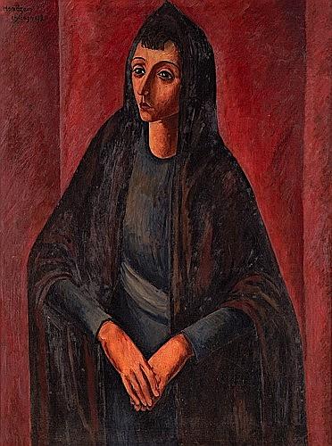 Simon MONDZAIN (1890-1979) PORTRAIT DE FEMME, 1920 Huile sur toile