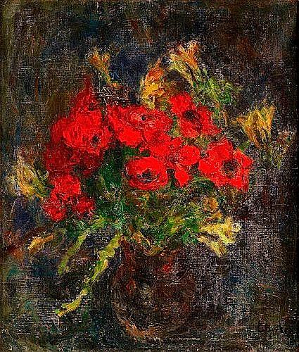 Eugène EBICHE (1896-1987) BOUQUET DE FLEURS Huile sur toile