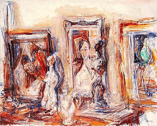 Isaac DOBRINSKY (1891-1973) NATURE MORTE, CIRCA 1930 Huile sur toile