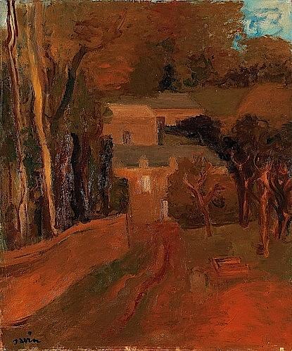 Maurice SAVIN (1894-1973) PAYSAGE DE LA MANCHE, 1942 Huile sur toile