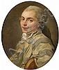 Attribué à Etienne Aubry Versailles, 1745 - 1781 Portrait du chevalier de Billaut Toile,, Etienne Aubry, Click for value